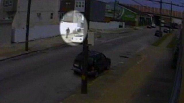 CCTV footage of a Philadelphia attempt kidnap