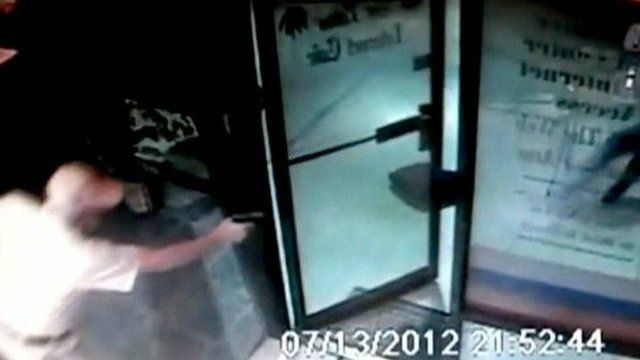 CCTV of senior citizen shooting at robber