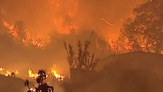 Fires rage in Madeira