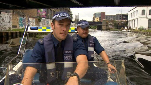 Police patrol Olympic perimeter by boat