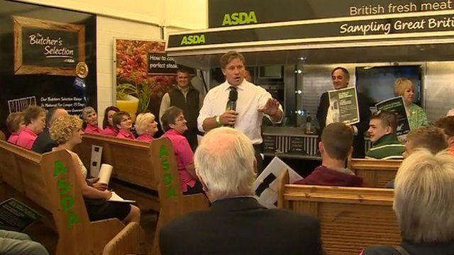 Jim Viggars at Asda stand