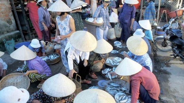 Price inflation has eased at this fish market in Hanoi