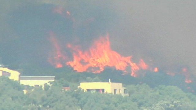 Wold fires in Spain