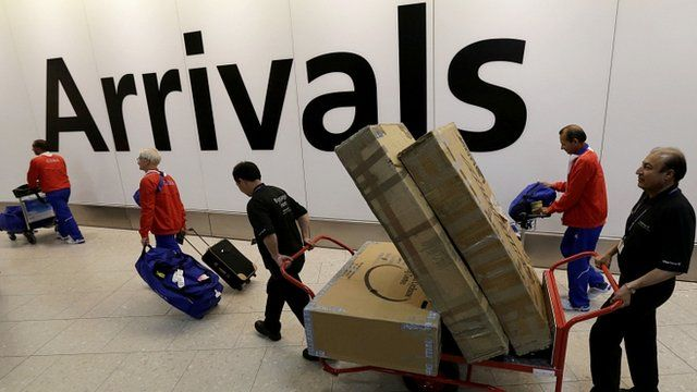 Unusual baggage has been a common sight at Heathrow