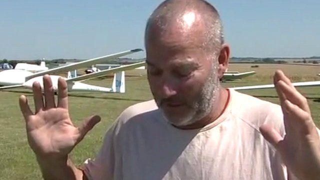 Gilder pilot Gerrard Dale