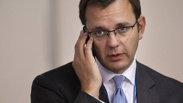 The prime minister's former chief spokesman Andy Coulson