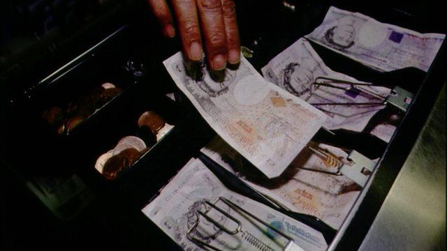 Cash register till checkout
