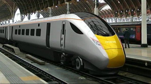 An artist's impression of a new Hitachi train