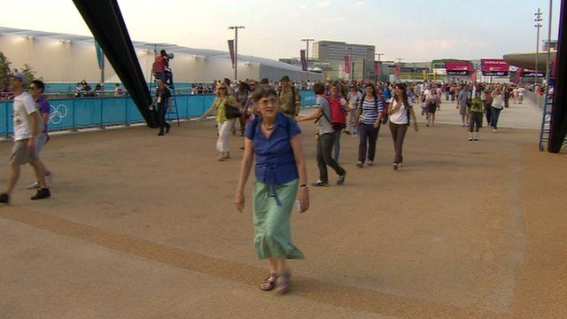 People walking in Olympic Park