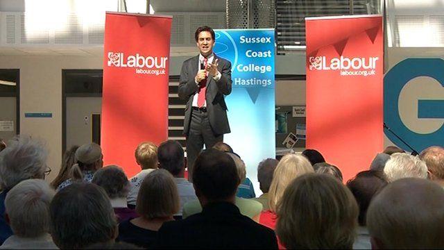 Ed Miliband in Hastings