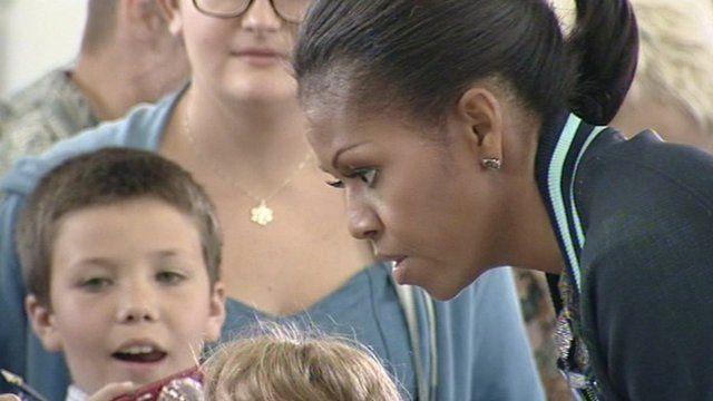 Michelle Obama at RAF Mildenhall