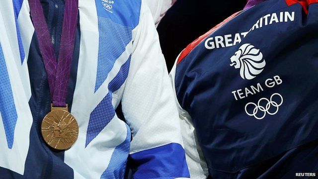 Team GB member wears bronze medal