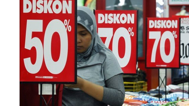 Discount sale at shop in Jakarta