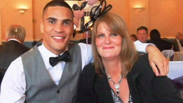 Lowestoft boxer Anthony Ogogo with his mother Theresa