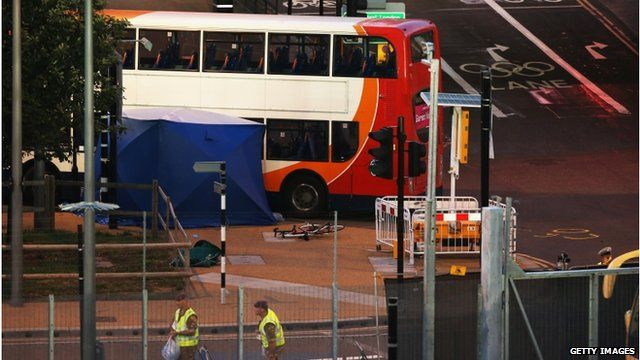Scene of fatal accident near Olympic Park