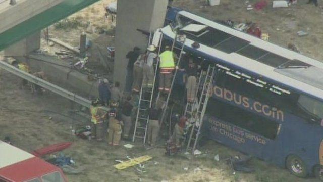 Megabus crash in Illinois