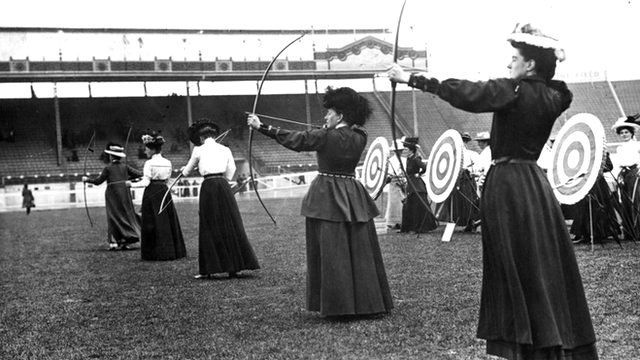 Women archers at the 1908 Olympics