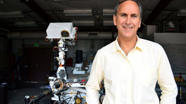 John Grotzinger and test rover