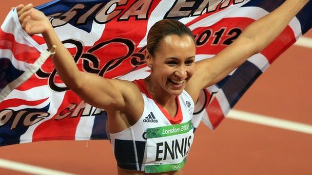 Jessica Ennis is crowned Olympic heptathlon champion