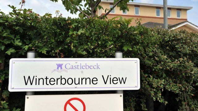 The sign outside Winterbourne View care home