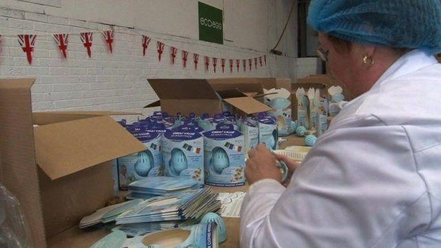 Woman at Ecoegg factory