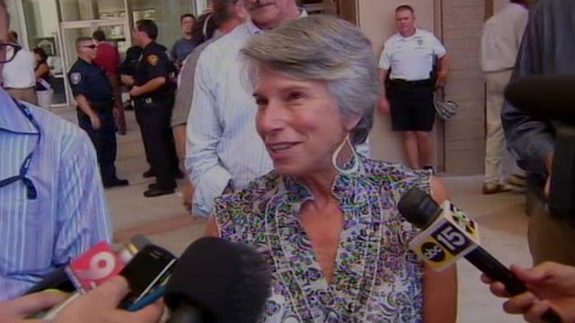 Susan Hileman after Loughner plea hearing 7 August 2012