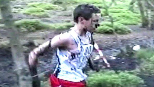 Alistair Brownlee after falling in the mud