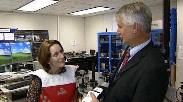 BBC reporter Sarah-Jane Bungay discovers technology used by Team GB at BAE systems in Bristol