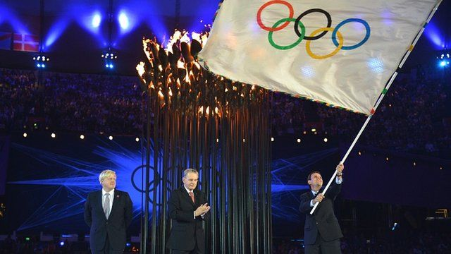 Olympic flag handover