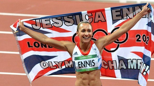 Jessica Ennis, poster girl for the Games, won gold in the heptathlon