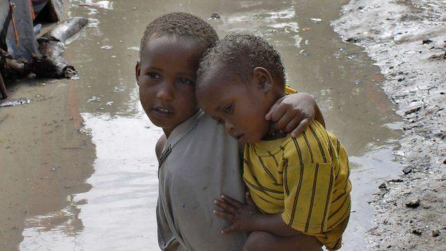 Displaced Somali children