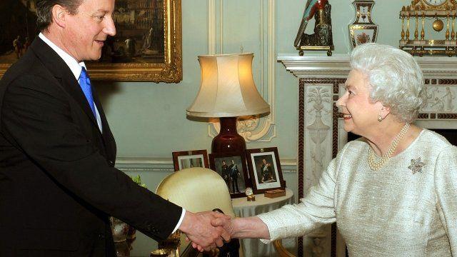 The Queen meets David Cameron
