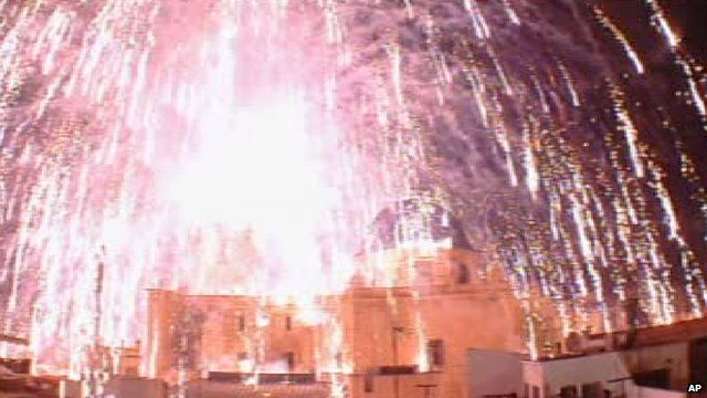 Firework blast