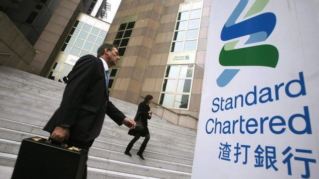 The main branch of the Standard Chartered Bank in Hong Kong