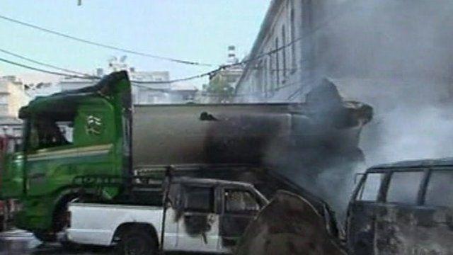 Scene of blast in Damascus