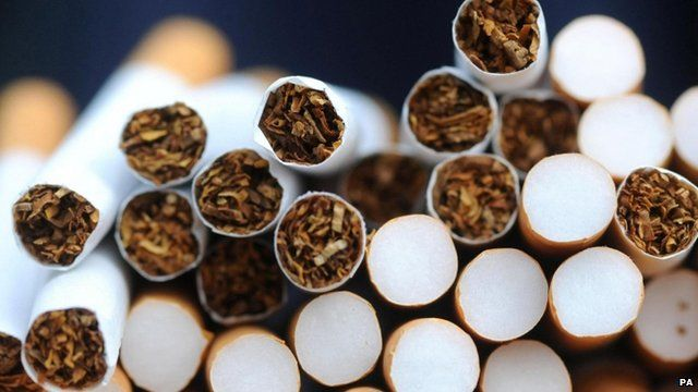 Pile of cigarettes pictured in 2004