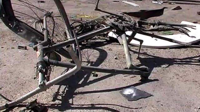 Shattered bicycle