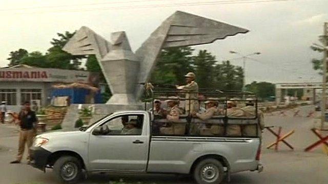 Military vehicle at Kamra air base