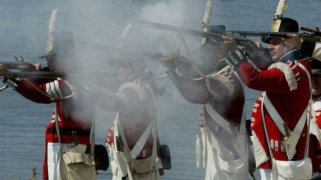 War of 1812 reenactment in Maryland