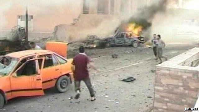 Aftermath of blast
