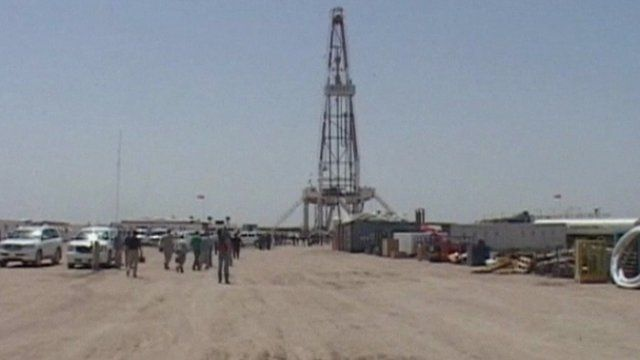 An oil well in Iraq