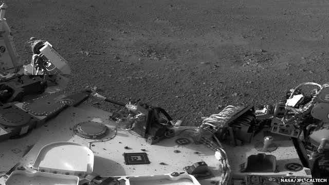 Deck of Mars rover