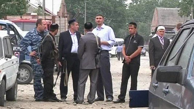 Officials at scene of blast