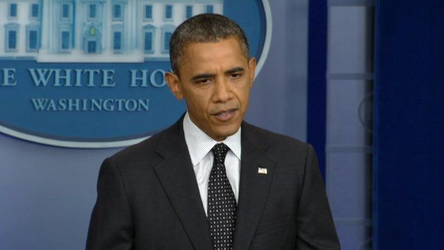 President Barack Obama speaks at a White House press briefing