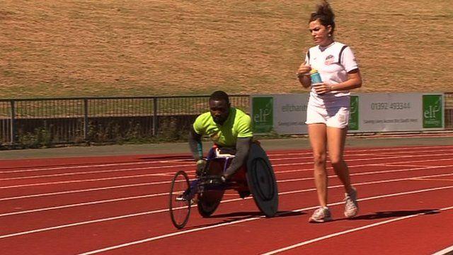 Ghana's Paralympian trains with Alexandra Main