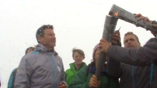 Paralympic flame, Snowdon