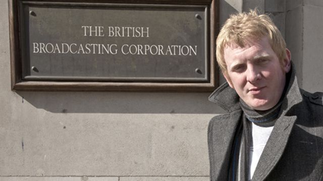 Rob Crossan outside Broadcasting House
