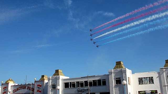 Red Arrows at Clacton Air Show
