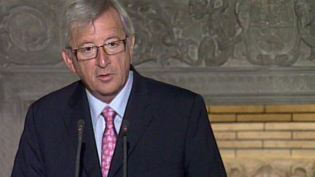 Eurogroup finance minister Jean-Claude Juncker