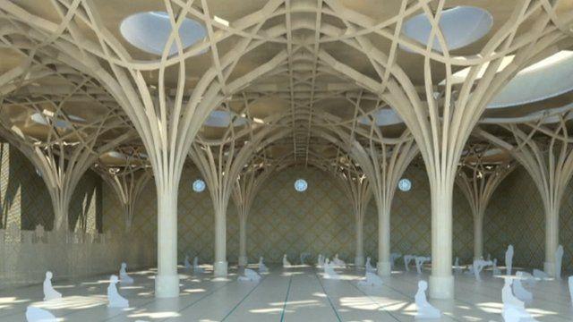 Artist's impression of the prayer hall